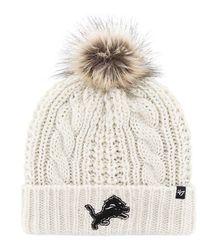 47 Brand White Detroit Lions Meeko Knit Hat