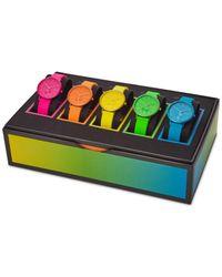 Skagen Unisex Aaren Kulor Neon Multicolor Silicone Strap Watch 36mm Box Set