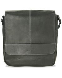 Kenneth Cole Reaction Black Colombian Leather Vertical Flapover Tablet Case for men