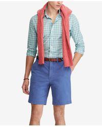 "Polo Ralph Lauren - Blue Stretch Classic-fit 9-1/4"" Shorts for Men - Lyst"
