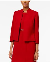 Kasper Red Notched Open-front