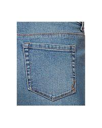 Style & Co. Blue Petite Curvy-fit Boyfriend Jeans