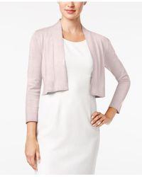Calvin Klein - Pink Solid Shrug Cardigan - Lyst