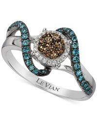 Le Vian - Metallic Diamond Ring (1/2 Ct. T.w.) In 14k White Gold - Lyst