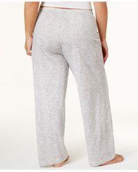 Hue - Gray Plus Size Rita Cheetah Cotton Pajama Pants - Lyst