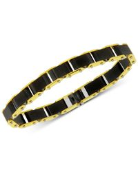 Macy's - Metallic Two-tone 3-pc. Set Link Bracelet, Cuff Links & Money Clip In Stainless Steel for Men - Lyst
