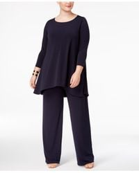 Alfani - Blue Plus Size Swing Top, Only At Macy's - Lyst
