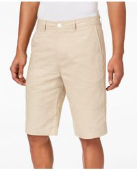 Sean John - Natural Linen Shorts, Created For Macy's for Men - Lyst
