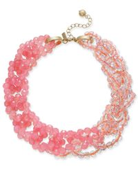 """Kate Spade - Multicolor Gold-tone Colored Bead 18"""" Torsade Necklace - Lyst"""