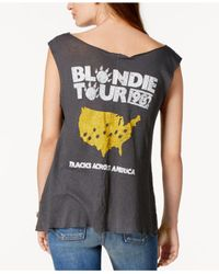 Junk Food | Gray Cotton Blondie Tour 1982 Graphic-print Tank Top | Lyst