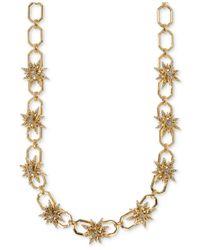 Ivanka Trump - Metallic Gold-tone Pavé Starburst Collar Necklace - Lyst