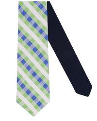 Tommy Hilfiger - Green Derby Small Gingham Silk Tie for Men - Lyst