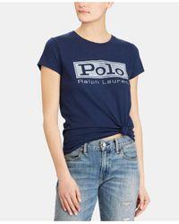 Polo Ralph Lauren Blue Logo Jersey Graphic T-shirt