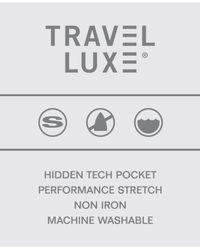 Perry Ellis - Blue Travel Luxe Slim-fit Dress Pants for Men - Lyst