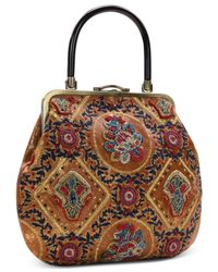 Patricia Nash Multicolor Provencal Escape Beaded Sedavi Medium Frame Bag