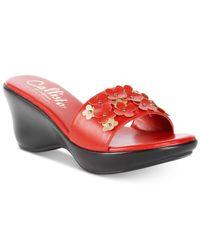 Callisto - Red Laylee Slide Wedge Sandals - Lyst