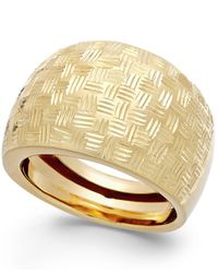 Macy's - Metallic Woven Dome Ring In 14k Gold - Lyst