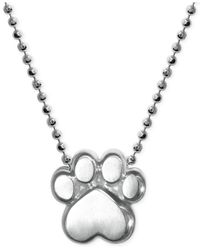 Alex Woo - Metallic Paw Pendant Necklace In Sterling Silver - Lyst