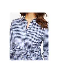 Isabella Oliver Blue Maternity Tie-front Shirt