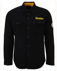 Levi's Black Pittsburgh Steelers Overshirt Button Down Shirt for men