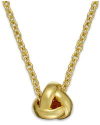 Kate Spade - Metallic Gold-tone Knot Pendant Necklace - Lyst