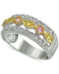 Giani Bernini - Metallic Cubic Zirconia Tri-tone Ring In Sterling Silver - Lyst