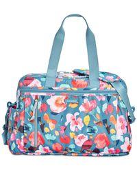 Vera Bradley Blue Lighten Up Extra-large Weekender Travel Bag