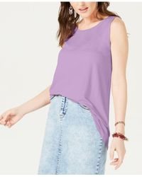 Style & Co. Purple Swing-fit Tank Top, Created For Macy