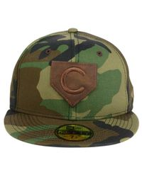 KTZ - Green Chicago Cubs The Logo Of Leather 59fifty Cap for Men - Lyst