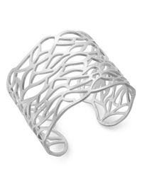 Touch Of Silver - Metallic Silver-plated Bracelet, Lace Bangle - Lyst