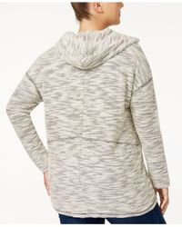 Style & Co. - Multicolor Plus Size Space-dyed Lace-up Hoodie - Lyst