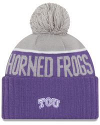 KTZ Purple Tcu Horned Frogs Sport Knit Hat