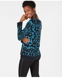 Charter Club - Blue Pure Cashmere Graphic Boatneck Sweater In Regular & Petites Sizes, Created For Macy's - Lyst