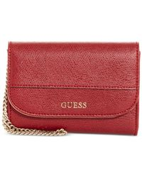 Guess - Red Katiana Double Date Boxed Wallet, A Macy's Exclusive Style - Lyst