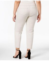Charter Club Multicolor Plus Size Pull-on Skinny Pants