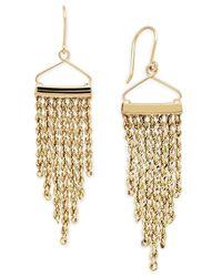 Macy's - Metallic Rope Tassel Drop Earrings In 14k Gold - Lyst