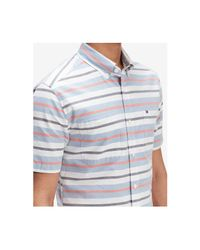Tommy Hilfiger Blue Multi-stripe Classic Fit Shirt, Created For Macy's for men