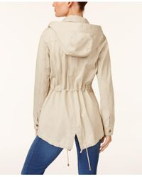 Style & Co. - Natural Cotton Hooded Utility Jacket - Lyst