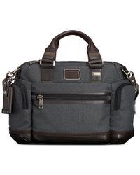 Tumi Gray Alpha Bravo Brooks Slim Briefcase for men