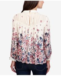 Lucky Brand - Multicolor Printed Split-sleeve Top - Lyst