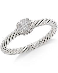 Macy's - Metallic Diamond Pavé Bracelet (1/2 Ct. T.w.) In Sterling Silver - Lyst