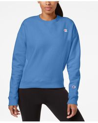 Champion Blue Essential Reverse Weave Fleece Sweatshirt