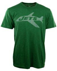 47 Brand Green Men's New York Jets Retro Logo Scrum T-shirt for men