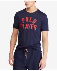 Polo Ralph Lauren - Blue Active-fit Performance T-shirt for Men - Lyst
