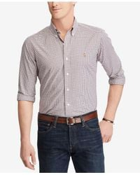 Polo Ralph Lauren - Blue Men's Slim Fit Cotton Shirt for Men - Lyst
