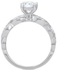 Macy's - Metallic Diamond Overlap Engagement Ring (1-1/4 Ct. T.w.) In 14k White Gold - Lyst