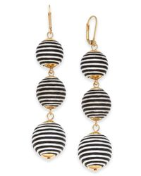 INC International Concepts - Black I.n.c. Gold-tone Wrapped Ball Triple Drop Earrings, Created For Macy's - Lyst
