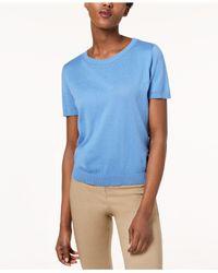 Weekend by Maxmara - Blue Cancan Short-sleeve Sweater - Lyst