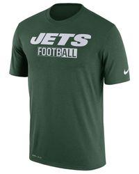 Nike - Green Men's New York Jets All Football Legend T-shirt for Men - Lyst