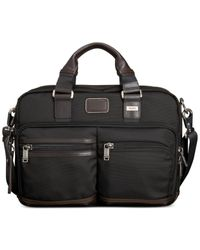 Tumi Gray Alpha Bravo Andersen Slim Commuter Briefcase for men